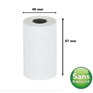 bobine thermique tpe carte bancaire 57 x 40 x 12 papier thermique Sans bisphénol A SBPA