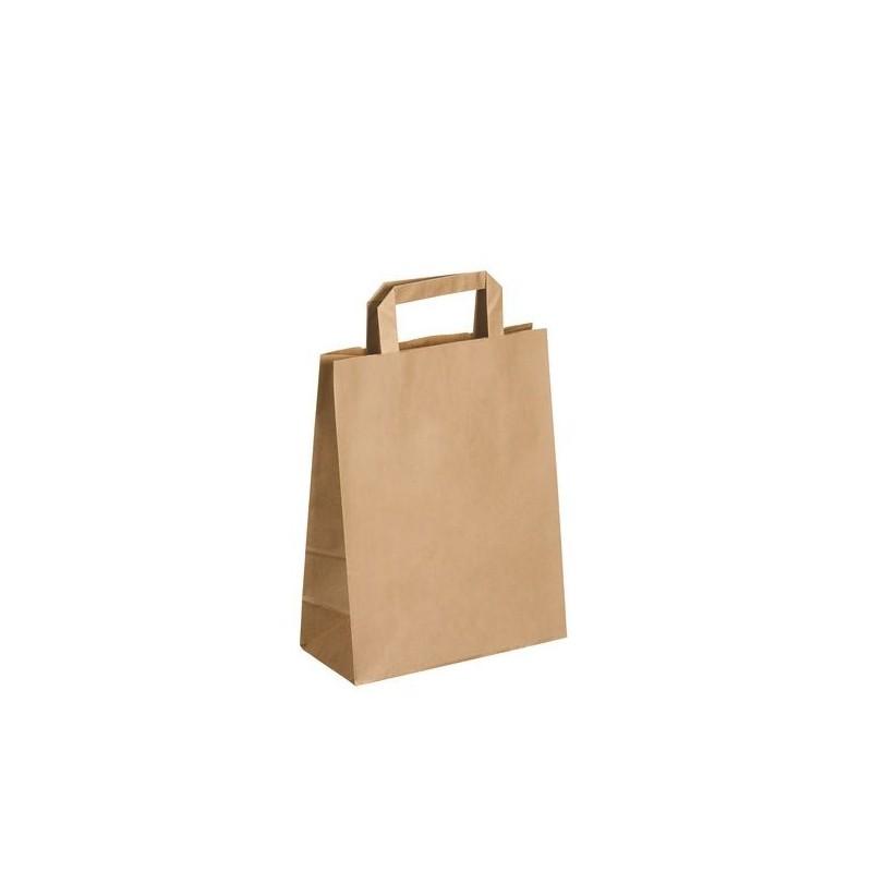 Sacs boutique papier 6 Litres avec poignées écru