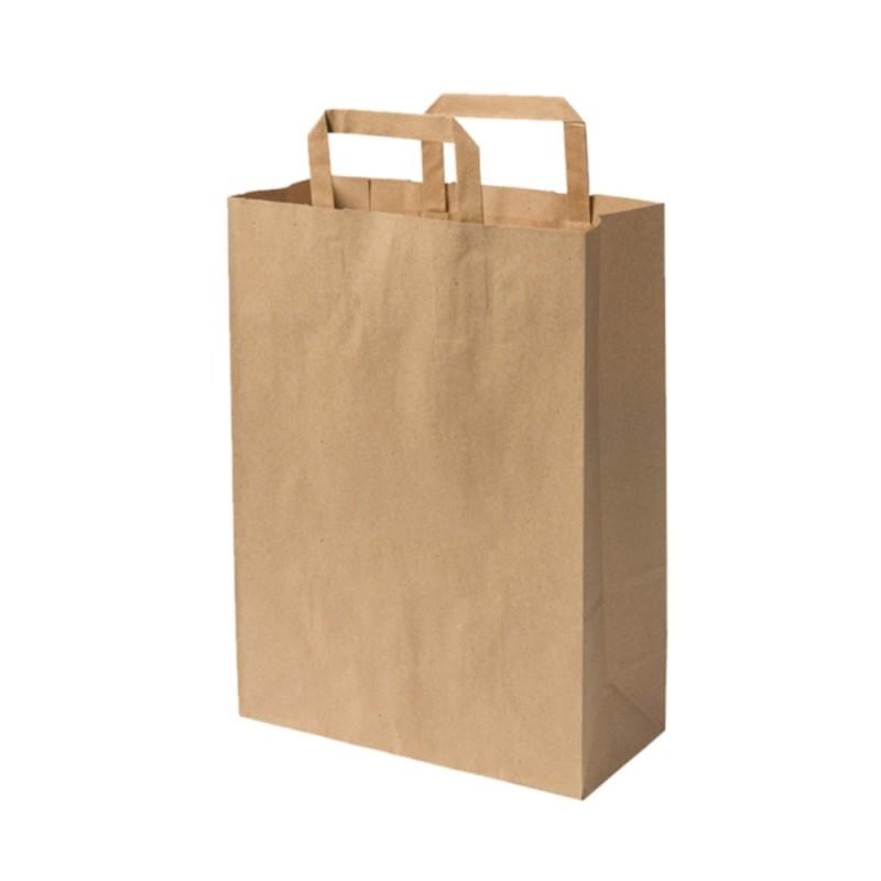 Sacs boutique papier 11 Litres avec poignées écru