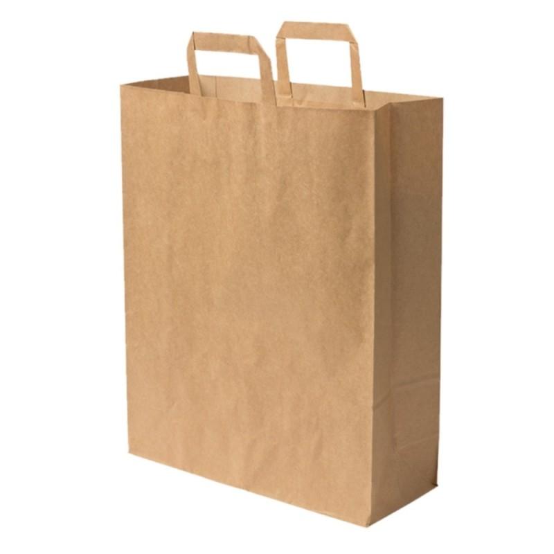 Sacs boutique papier 16 Litres avec poignées écru