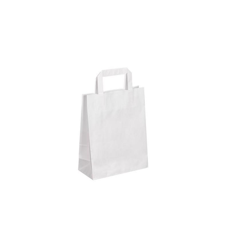 Sacs boutique papier 6 Litres avec poignées blanc