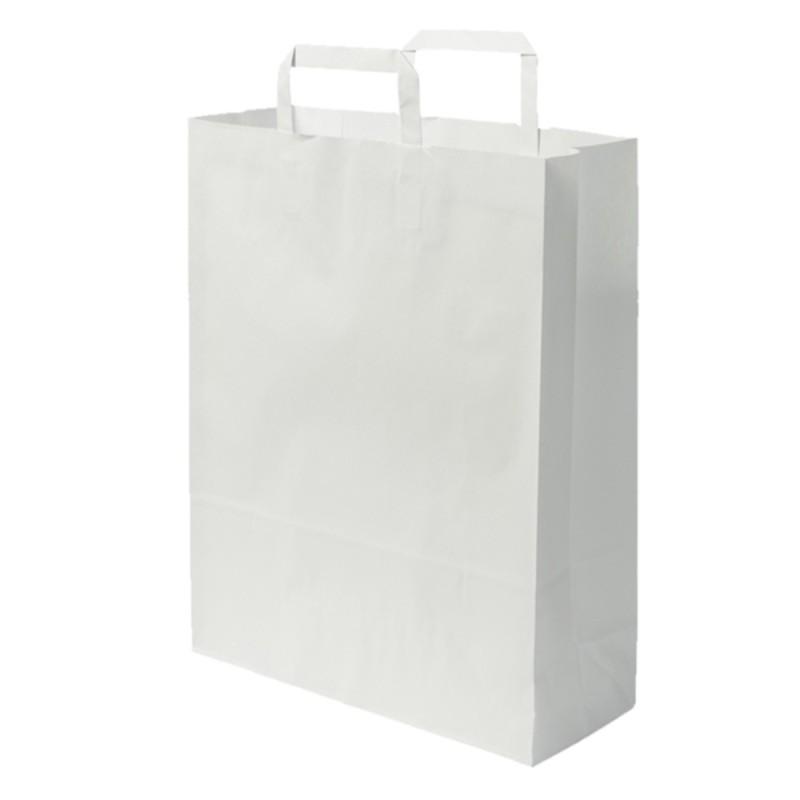 Sacs boutique papier 16 Litres avec poignées blanc