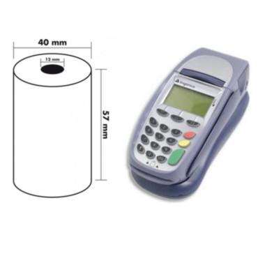 bobine CARTE BANCAIRE thermique tpe carte bancaire 57 x 40 x 12 papier thermique Sans bisphénol A