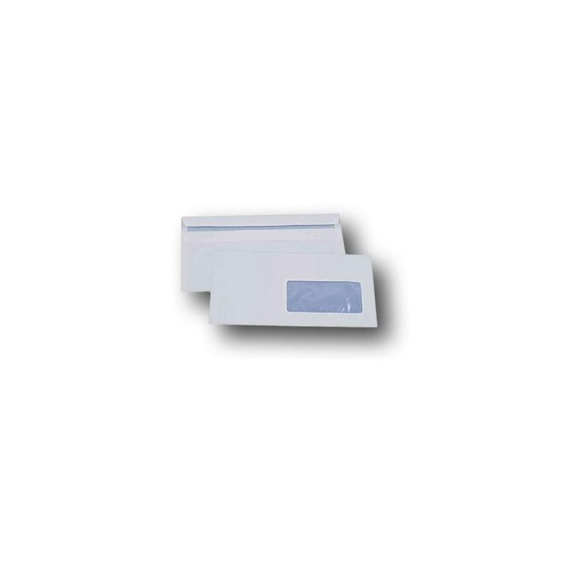 Enveloppes Dl 110 X 220mm Papier Blanc Avec Fenêtre