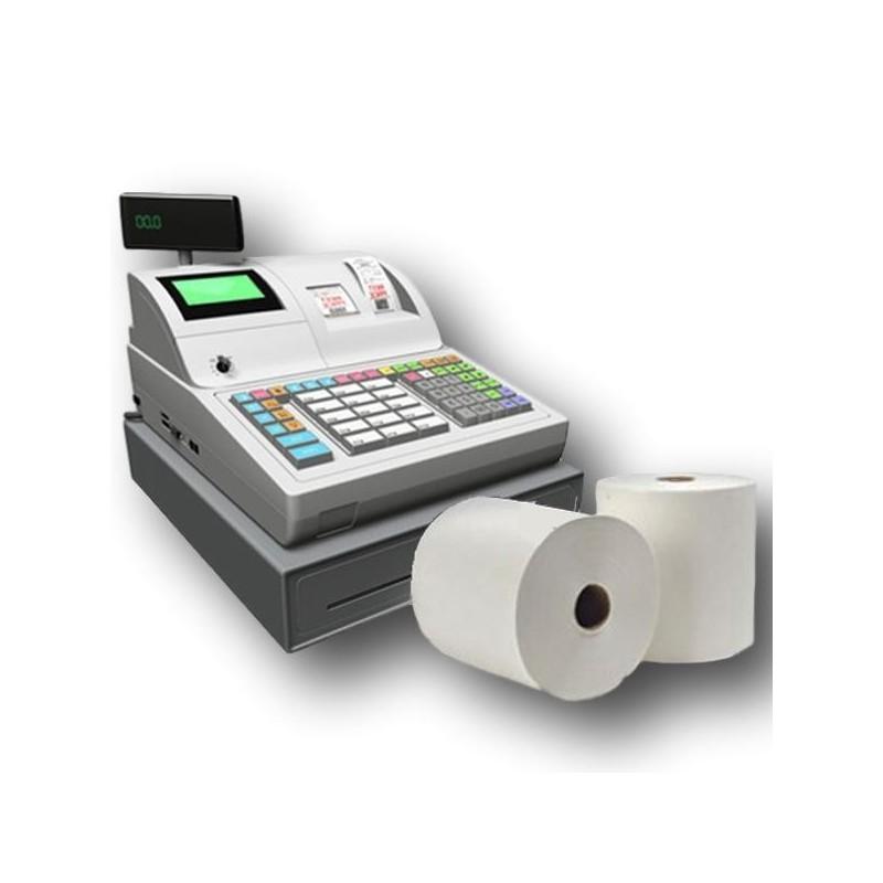 5 Bobine Papier Thermique, 80 x 80 x 12 mm, rouleau thermique pour ticket de caisse et reçus. 1 pli