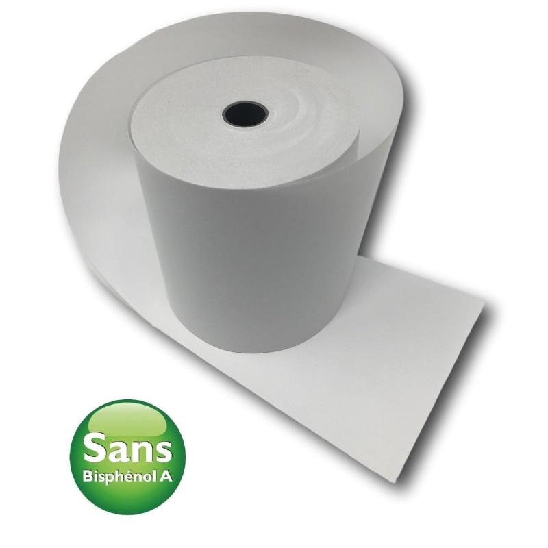 5 Bobines Papier Thermique, 80 x 80 x 12 mm sans bisphénol A, rouleau thermique pour ticket de caisse et reçus.